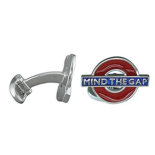 Mind The Gap London Tube Cufflinks