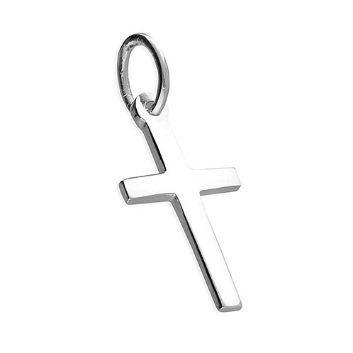 Small Silver Plain Cross Pendant