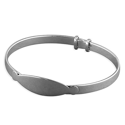 Child's Sterling Silver I.D Bangle