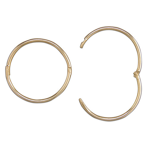 9ct yellow gold hoops 15mm