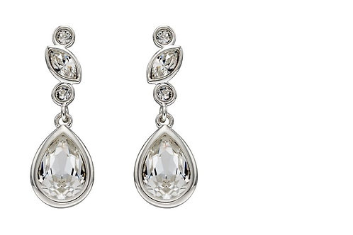 Swarovski crystal multi stone drop earrings