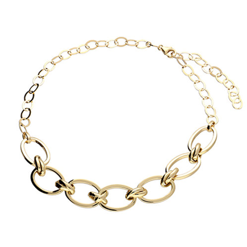 Gold Large Oval Chain Necklace