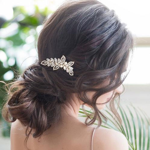 Bridal Hair Comb 'Athena Pearl Shimmer'