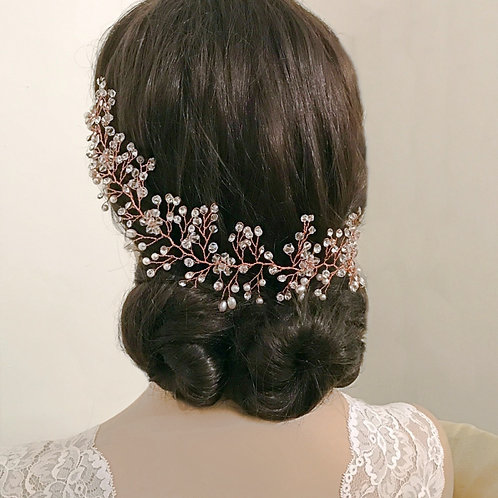 Bridal Hair Vine ' Crystal Shimmer' from The Athena Collection