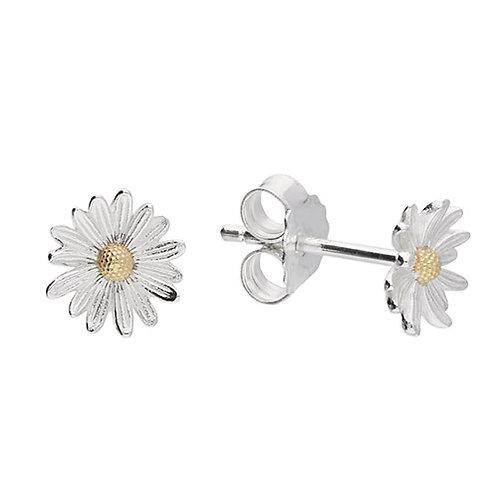 April Birthday Daisy Flower Stud Earrings