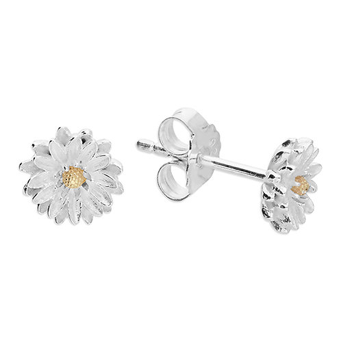 September Birthday Aster Flower Earrings