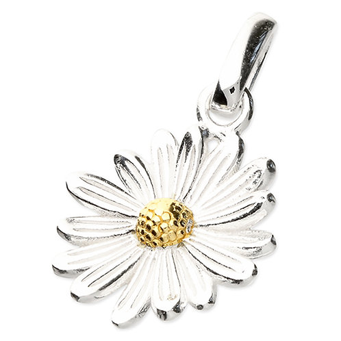April Birthday Daisy Flower Pendant Necklace