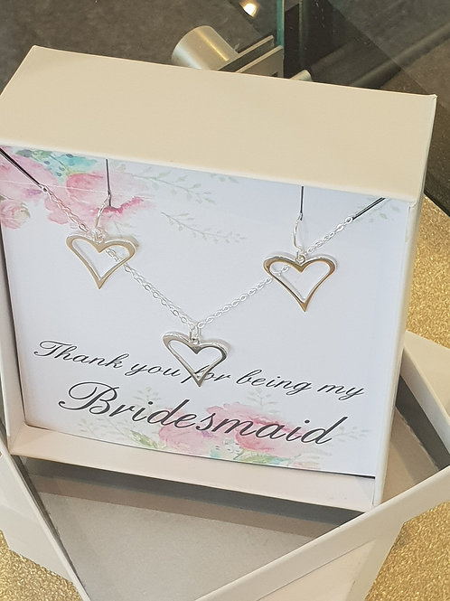 Sterling Silver Bridesmaids Gift Set
