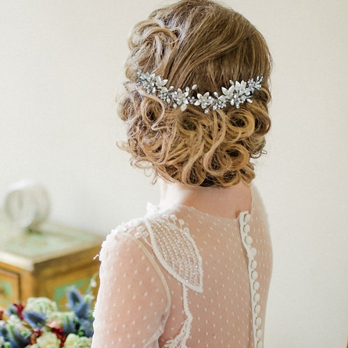 Bridal Hair Vine 'Floral Romance' from The Athena Collection