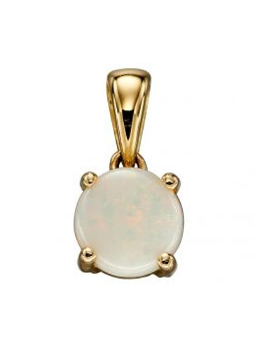 9ct Yellow Gold Opal October Birthstone Pendant