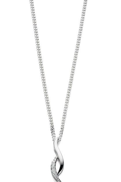 Freahwater pearl with cubic zirconia drop pendant