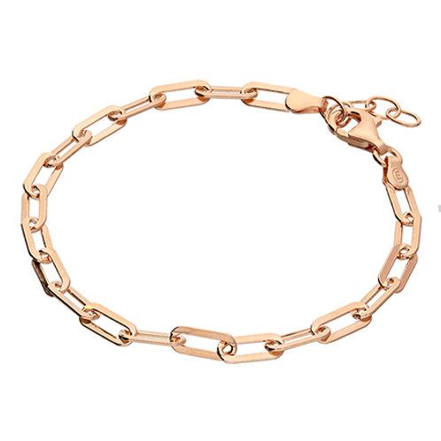 Rose Gold Vermeil Paper Clip Chain Bracelet