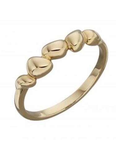 9ct Yellow Gold Pebble Ring