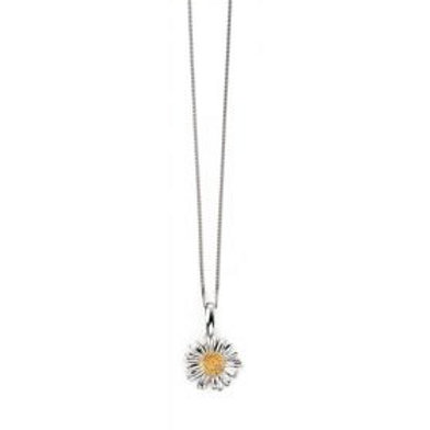Sterling Silver & Gold Plated Daisy Pendant