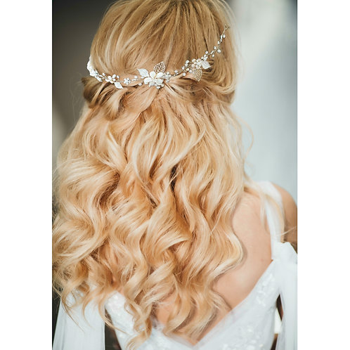 Bridal Hair Vine 'Freshwater Pearl Vine' from The Athena Collection