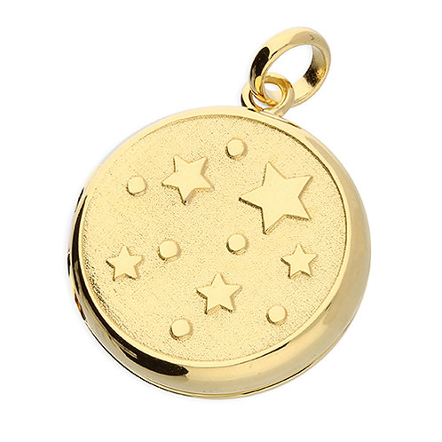 9ct Gold Plated Silver Stars Locket