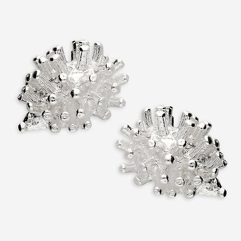 Hedgehog silver stud earrings