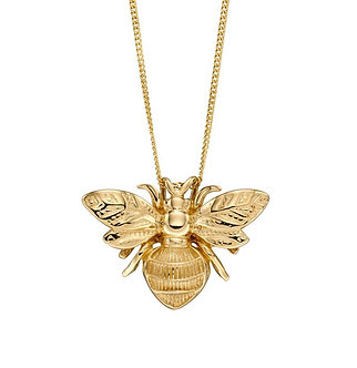 9ct Yellow Gold Bumblebee Pendant Necklace