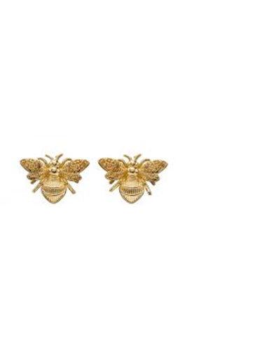 9ct Yellow Gold Bee Stud Earrings