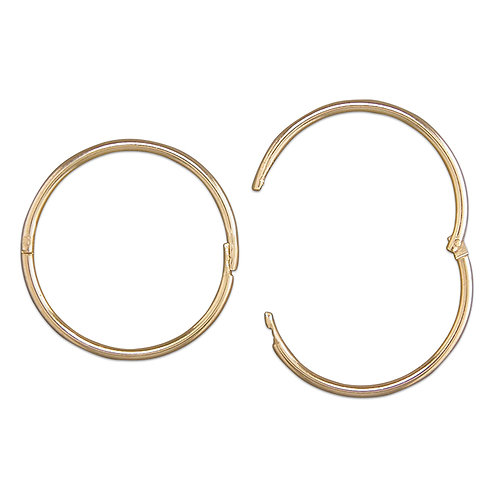 9ct yellow gold hoops 16mm