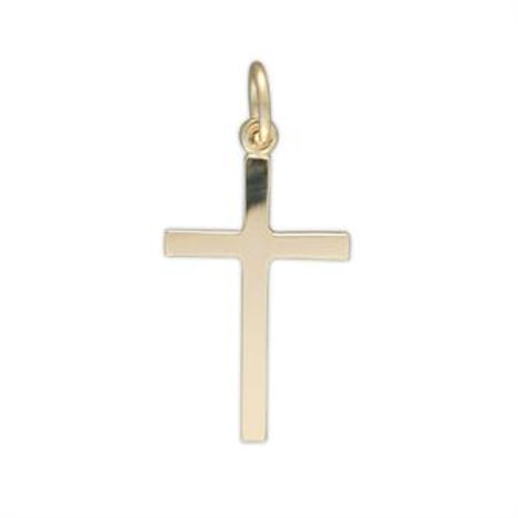 9ct Yellow Gold Plain Cross Pendant