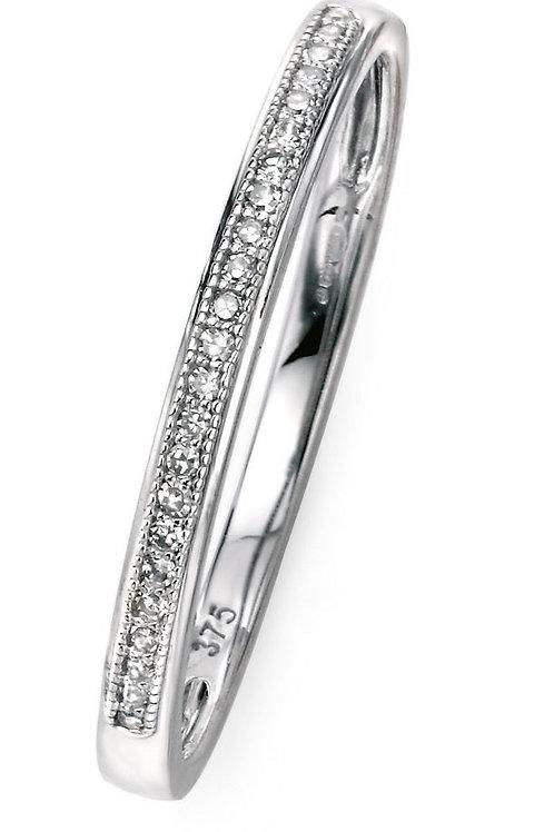 9ct White Gold Diamond Eternity Ring