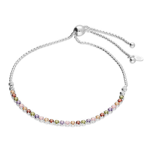 Rainbow slider bracelet