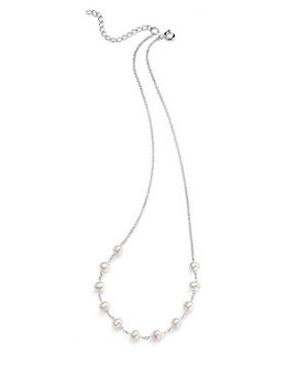 Elements Silver Freshwater Pearl Necklace
