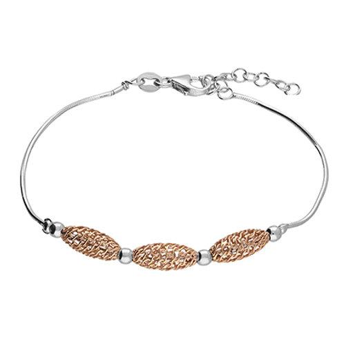 Rose Gold Vermeil Bead Cage Bracelet