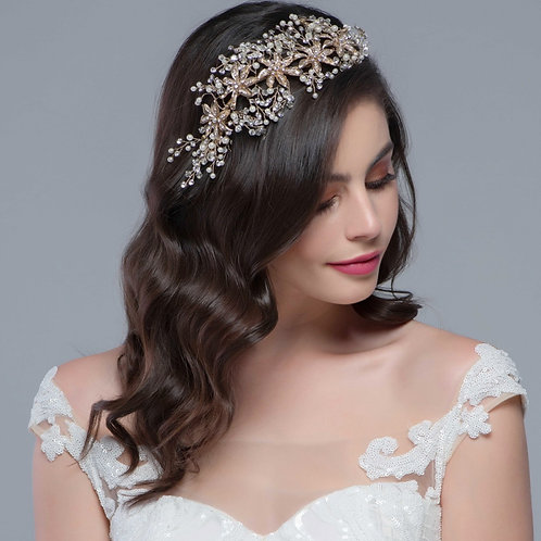 Bridal Hair Vine 'Bejewelled' from The Sass B Collection