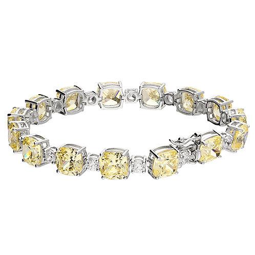 White & Yellow Diamond Simulant Tennis Bracelet