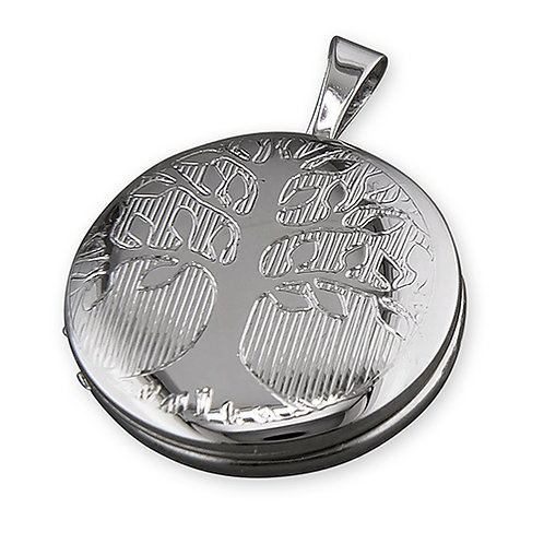 Silver Tree of Life Round Locket
