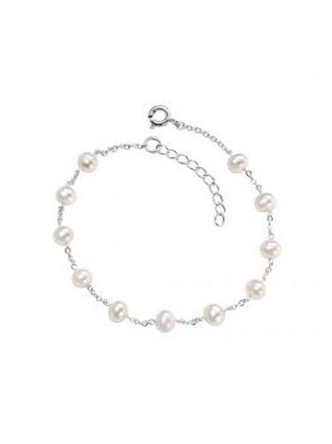 Silver & Freshwater Pearl Chain Bracelet