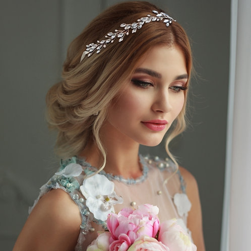 Bridal Hair Vine 'Chic Pearl' from the Athena Collection