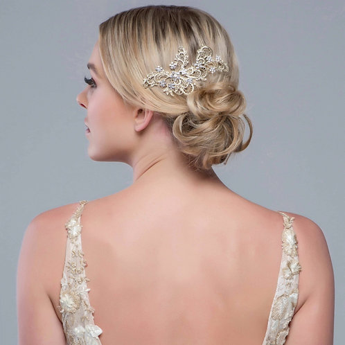 Bridal Hair Comb 'Liza Exquisite' from The Sass B Collection
