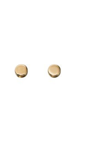 9ct Yellow Gold Plain Disc Stud Earrings