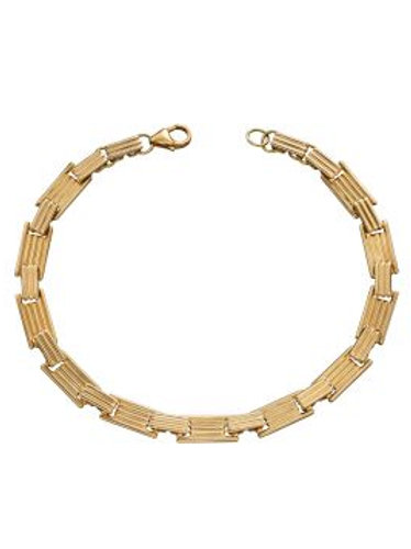 9ct Gold Bar Column Bracelet