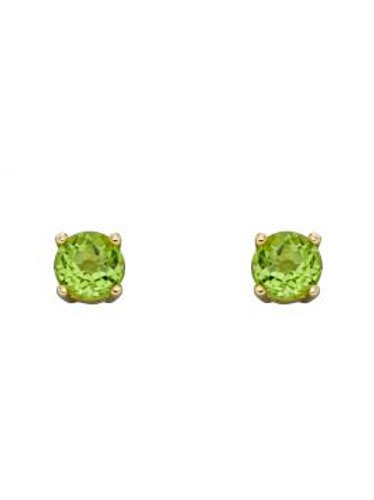 9ct Yellow Gold Peridot August Birthstone Stud Earrings