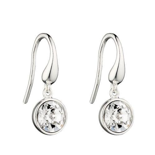 Swarovski crystal silver drop Earring