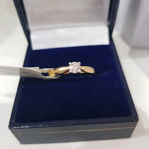 18ct White Yellow Gold Diamond 0.26ct Solitaire Ring