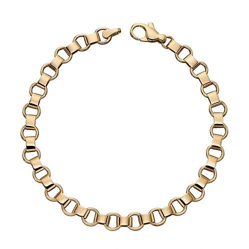 9ct Yellow Gold Circle Link Bracelet