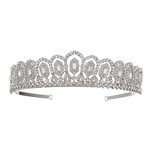Silver Crystal Sparkle Tiara