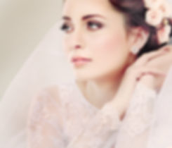 Portrait of beautiful bride. Wedding dre