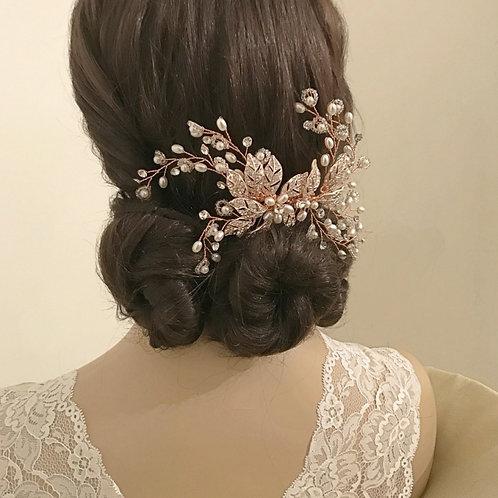 Bridal Hair Comb 'Athena Crystal Extravagance'