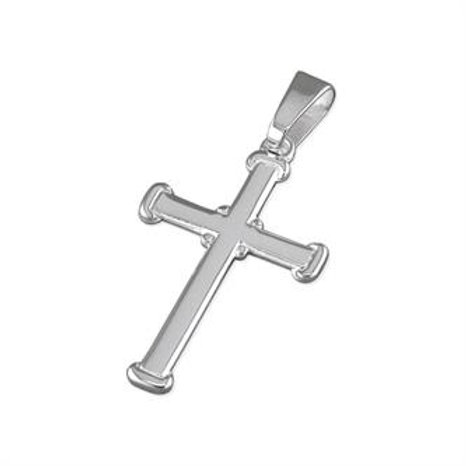 Silver Medium Plain Cross Pendant