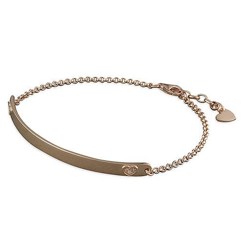 Rose Gold Vermeil I.D Bar Bracelet
