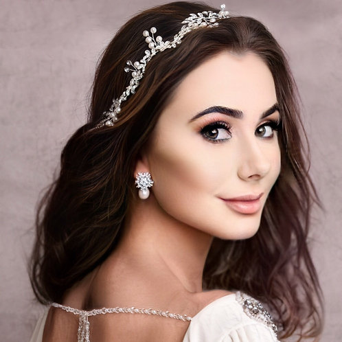 Bridal Hair Vine 'Crystal Starlet' from The Athena Collection