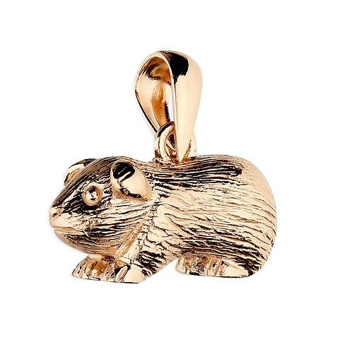 Sterling Silver Pendant Rose gold-plated guinea pig