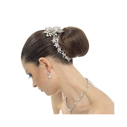 Bridal Hair Comb 'Luxurious Crystal Pearl' from Athena Collection