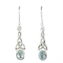 Celtic Blue Topaz Earrings